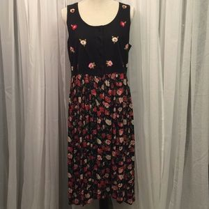Erika Taylor Intimates '90s Black and Pink Dress